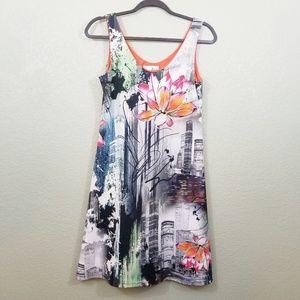 Joseph Ribkoff Asian Inspired A-Line Dress